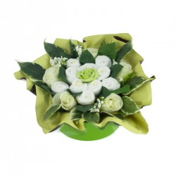 baby shower bouquet gateau de couches vert