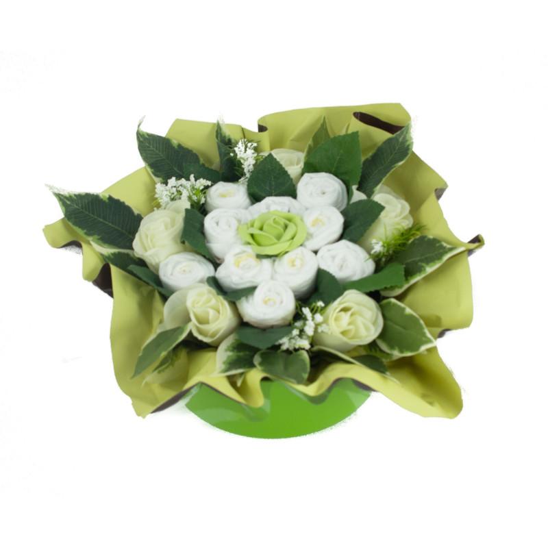 baby shower bouquet gateau de couches vert