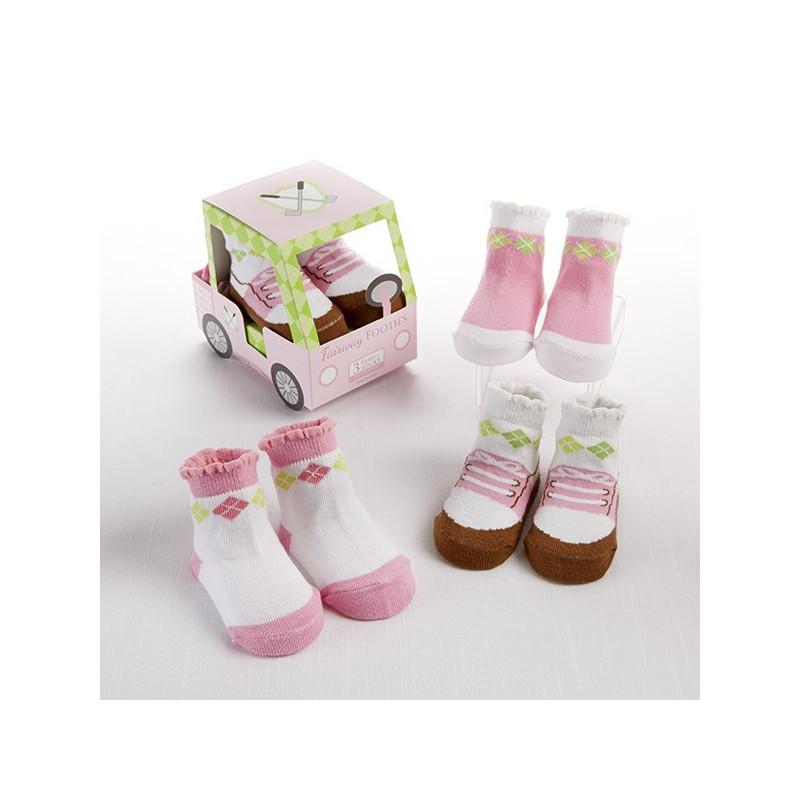 Voiturette chaussettes filles - cadeau de naissance ou baby shower insolite