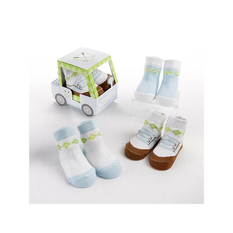 Voiturette chaussettes filles - offrir l'originalité à une baby shower