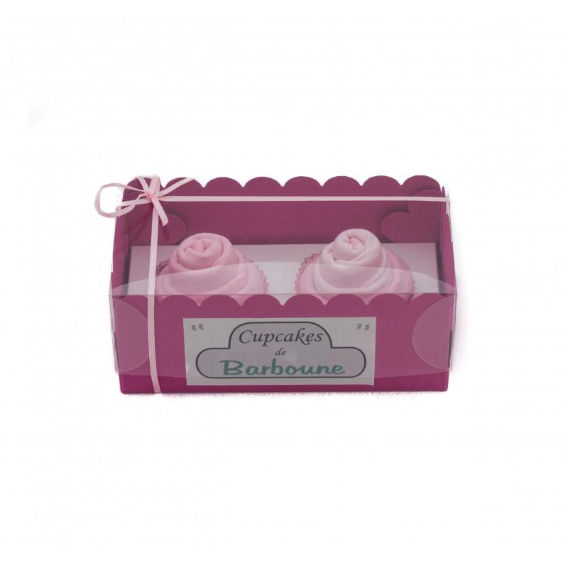 Gâteaux de bavoirs : Rose ou cupcakes baby shower