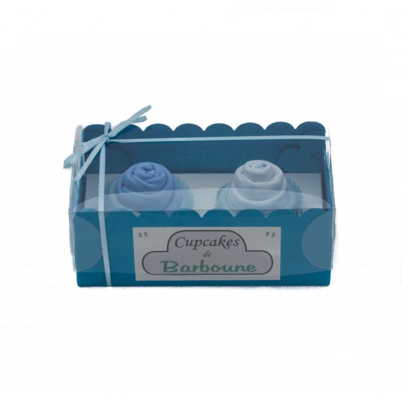 Cupcakes de bavoirs : Bleu pour cadeau insolite