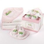 Ensemble de bain : Tortue rose coffret cadeau baby shower