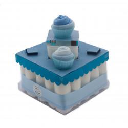 Gâteau de couches : surprises Bleu