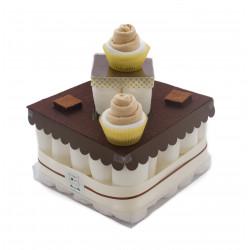 Gâteau de couches : Chocolat pour naissance original