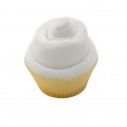 Cupcake de couche : blanc babyshower