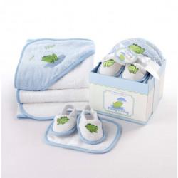Coffret pour le bain de bébé : Grenouille Finley