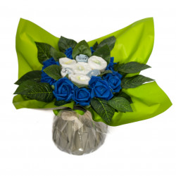 Bouquet Baby Shower : Bleu